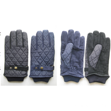 Sophisticated embroidery genuine winter mens glove